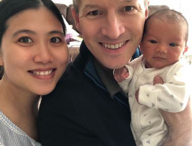 Congratulations to Catherine and Daniel on the birth of their baby boy using hypnobirthing